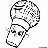 Shopkins Coloring Pages Microphone Colouring Season Shopkin Printable Seven Mike Coloriage Oki Carrie Dessin Info Characters Saison Ritningar Sheets Faerglaeggningssidor sketch template