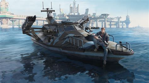 Fast Boat In Just Cause 3 wallpaper video games vehicle battleship just cause 3