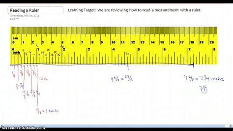 read measurements   ruler youtube