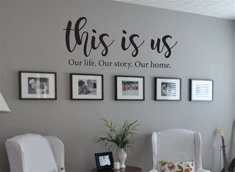 If you caught my crazy curtain rod stories, you may be wondering how it all turned out! This is Us Our life Our story Our home Family Quote Vinyl Wall Decal | Living room decor on a ...