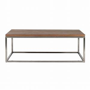 Coffee table metal legs wood top espacio de trabajo for Wood top metal legs coffee table