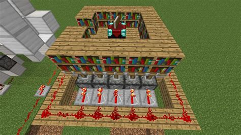 Minecraft Ultimate Redstone Enchantment Room Triggers