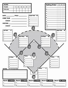 Baseball lineup template for T ball lineup template