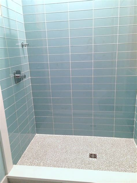 Glass Tile Bathroom Ideas by Pale Blue Glass Subway Tile In Vapor Modwalls Lush 4x12
