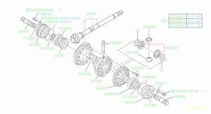 1995 Subaru Impreza Gear-speedometer Drive  Differential  Transmission  Driveline
