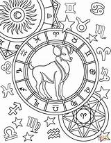 Zodiac Aries Coloring Pages Sign Signs Printable Star Astrology Adult Colors Capricorn Supercoloring Mandala Gemini Stars Crafts Select Category Colorings sketch template