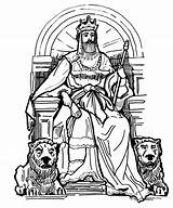 King Coloring Throne Pages Drawing David Queen Bible Clipart Clip Crowns Colouring Medieval Kingdom Google Drawings Sunday Chair Sheets Samuel sketch template