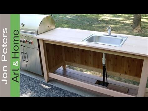 how to make outdoor kitchen cabinets build an outdoor kitchen cabinet countertop with sink 8750