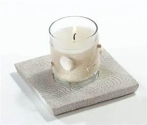 Kerze In Glas : kerze meer im glas auf stein jute u muscheln ~ Markanthonyermac.com Haus und Dekorationen