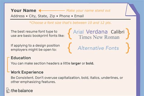 Best Font Size For Resume by Best Fonts For A Resume Sradd Me