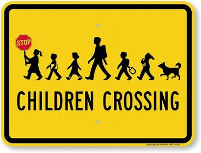 Crossing Sign Children Stop Signs Slow Safety