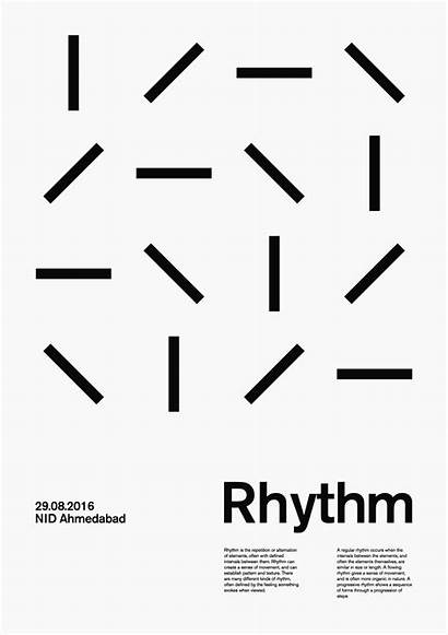 Graphic Minimal Poster Posters Rhythm Repetition Typography