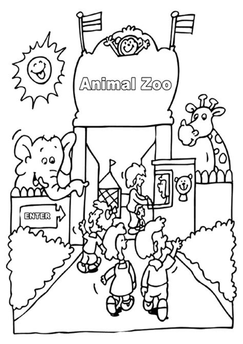 printable zoo coloring pages  kids sketch coloring page