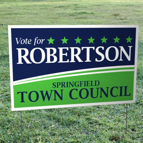 foldover yard signs for candidates for elections runandwin