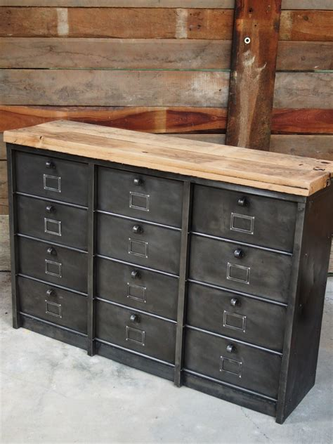 bureau conforama ancien grand meuble 12 casiers industriel strafor plateau