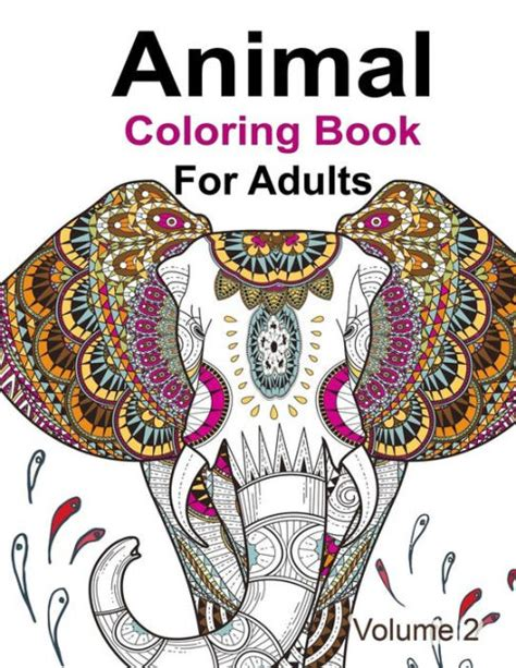 animal coloring book  adults  kensington press