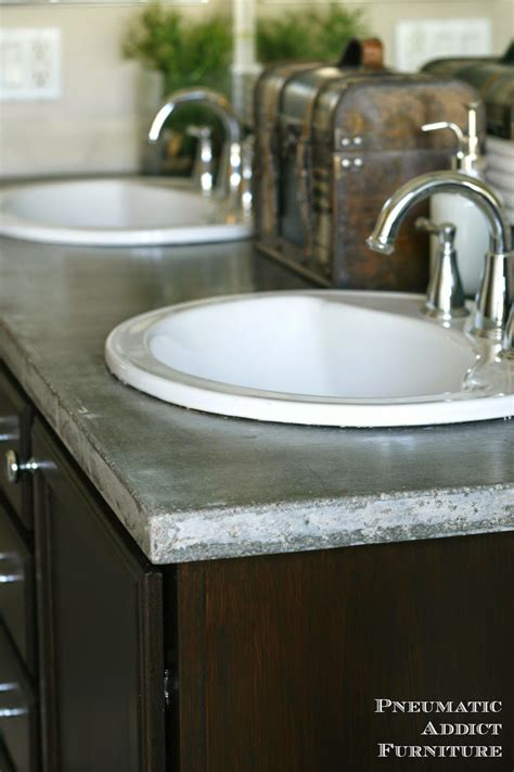 concrete countertop and sink diy concrete countertop with sink openings pneumatic addict