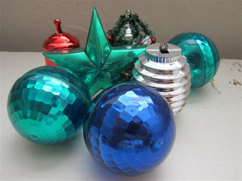 vintage plastic christmas tree ornaments bell by