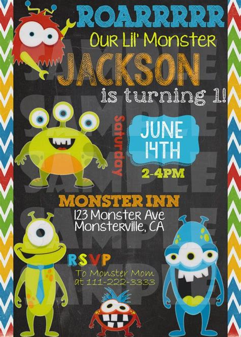 monster birthday invitations  printable