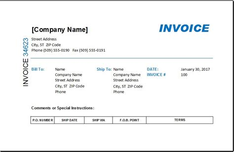 ms excel commission invoice template excel invoice templates
