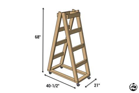 easy portable lumber rack  diy plans rogue engineer