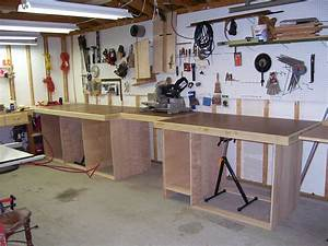 Norm Abram's work bench in my garage - by Bob