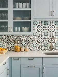 Faux Carreaux De Ciment : cuisine avec carreaux de ciment mariage de styles ~ Dailycaller-alerts.com Idées de Décoration