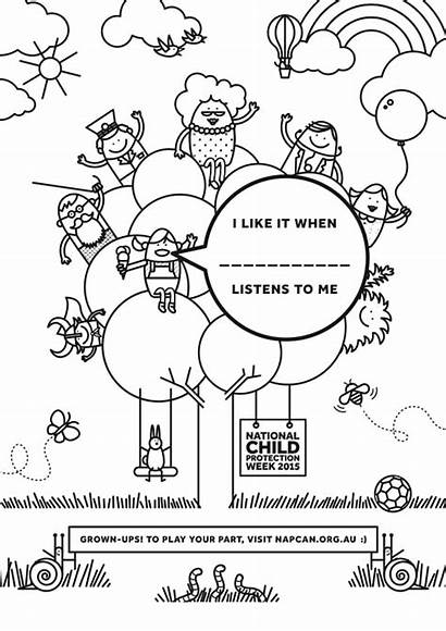 Child Protection Week Colouring Sheet National Poster