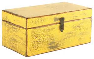 Retro Bathroom Decor Accessories by Vintage Yellow Wooden Box Decorative Boxes Chicago