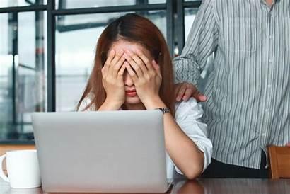 Discrimination Indirect Sad Colleague Depressed Comforting Hands