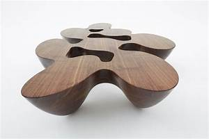 Unique Coffee Table in Organic and Fluid Form – Quark