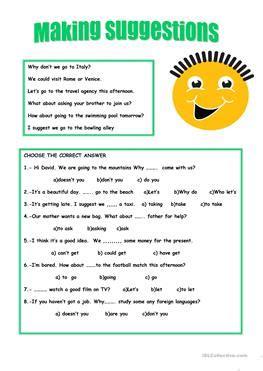 esl opinions worksheets