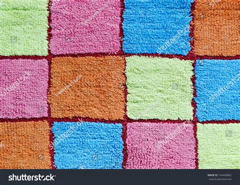 multi colored squares carpet for background stock photo