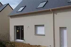 excellente couleur facade maison photo enduit prb With ordinary photo maison toit plat 9 en pierre moderne toit plat tendance