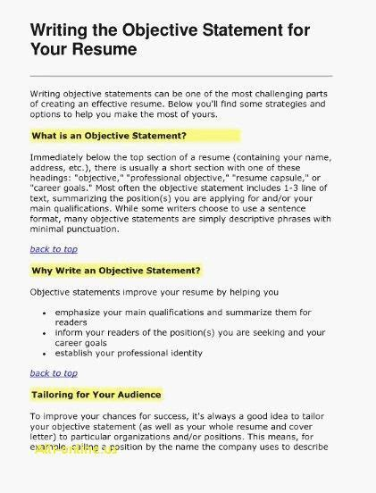 Your Career Objectives Exles by 75 Photos Of Sle Resume Objective Statements
