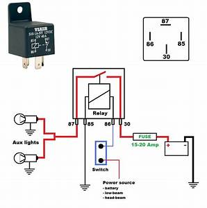Wiring Diagram For A 12v 40 Amp Relay