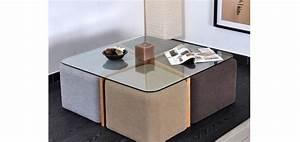 Table Basse 4 Poufs : table basse 4 poufs petit prix table basse pinterest idee rangement table basse et rangement ~ Teatrodelosmanantiales.com Idées de Décoration