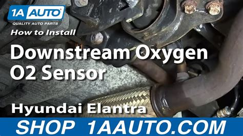 replace install downstream oxygen  sensor