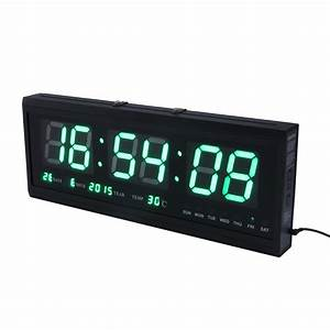 Large Digital Alarm Clock 12  24 Hour Jumbo Display With