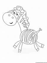 Coloring Pages Printable Zebra sketch template
