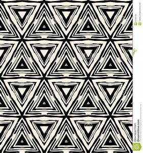 1930s Art Deco Geometric Pattern With Triangles Royalty