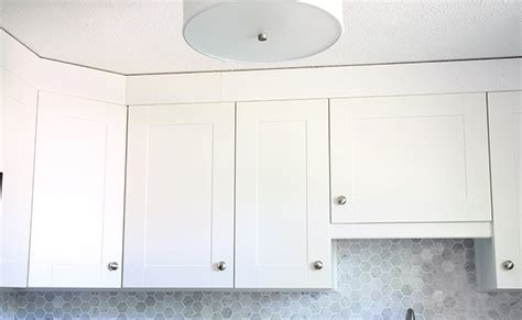 kitchen cabinet moulding home depot how to add crown molding to kitchen cabinets just a