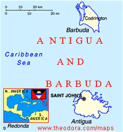 ABC Maps of Antigua and Barbuda; Flag, Map, Economy ...