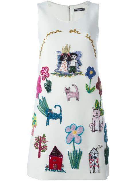lyst dolce gabbana childrens drawing embroidered