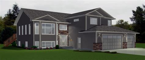 bi level house plans with attached garage bi level garage additions modified bi level with 3 car
