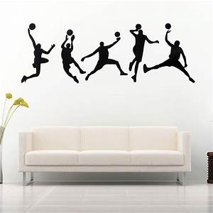 45X126CM Playing Basketball Wall Stickers Removable Sports ...