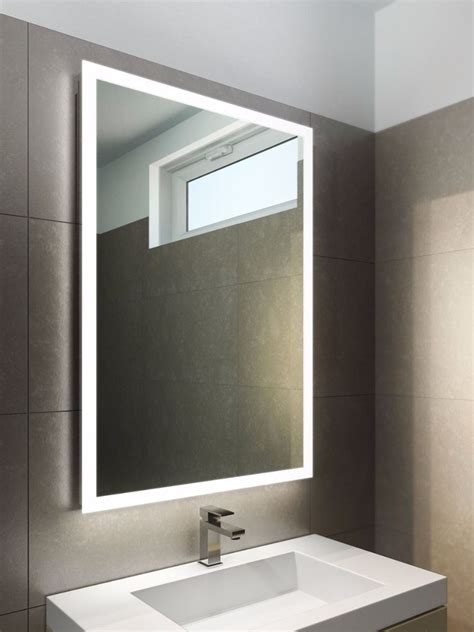 Mirrors In Bathrooms by Square Or Edge Lit Mirror At Master Bath Vanity