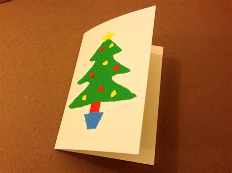 paper craft card kids christmas card christmas tree