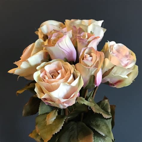 artificial roses  dusky pink
