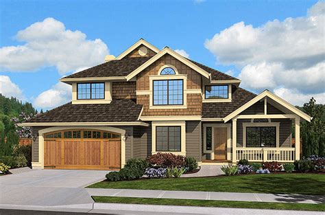 Narrow Lot House Plans Craftsman by Narrow Lot Craftsman 23434jd Architectural Designs